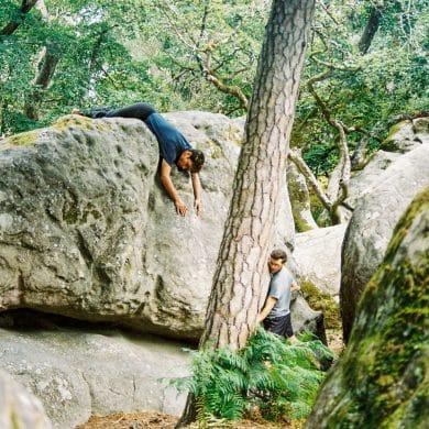 Boulderen in Fontainebleau, Frankrijk