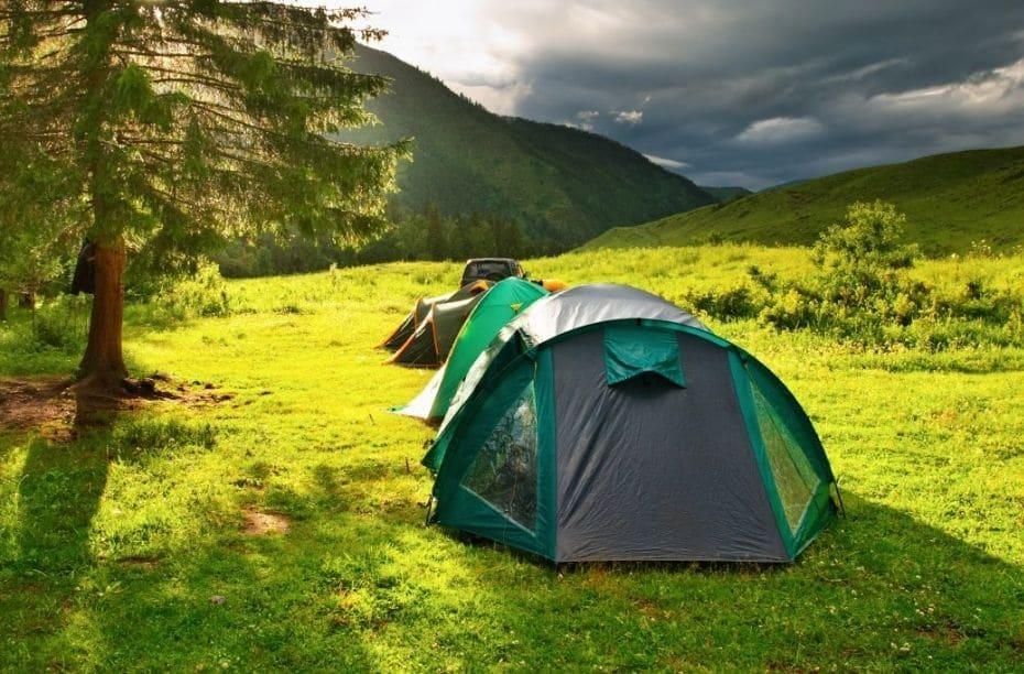 Lichte tent bikepacking