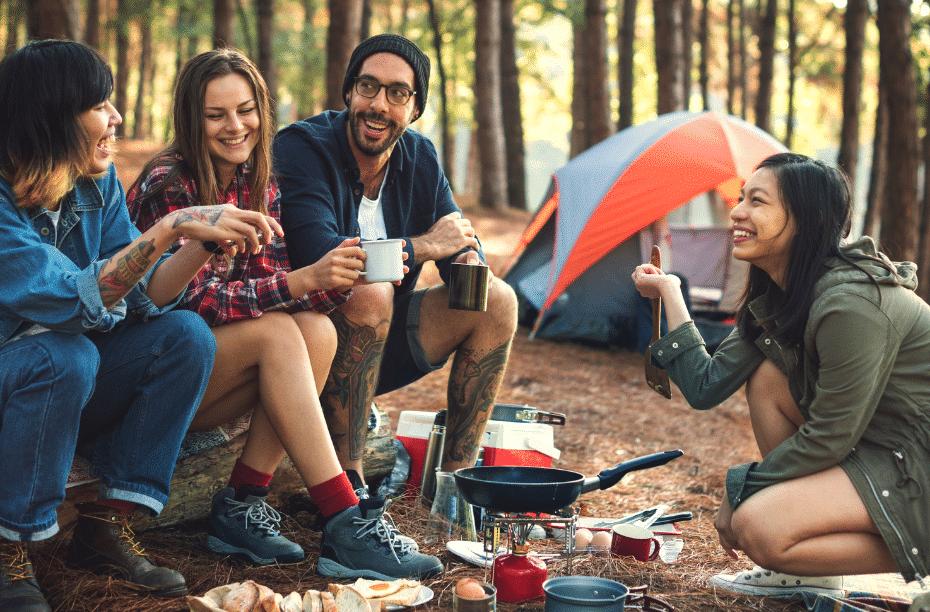 Campingboeken en boeken over kamperen